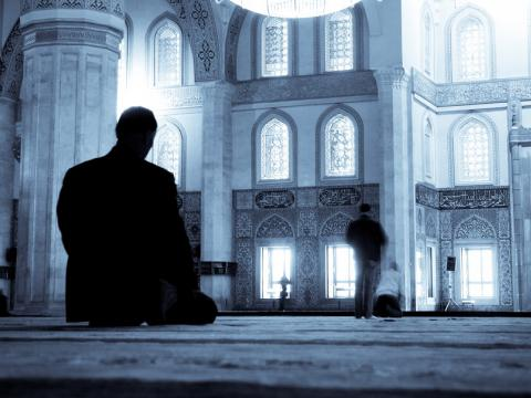 man pray in the mosque